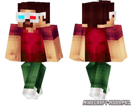 how to make glasses on minecraft skin