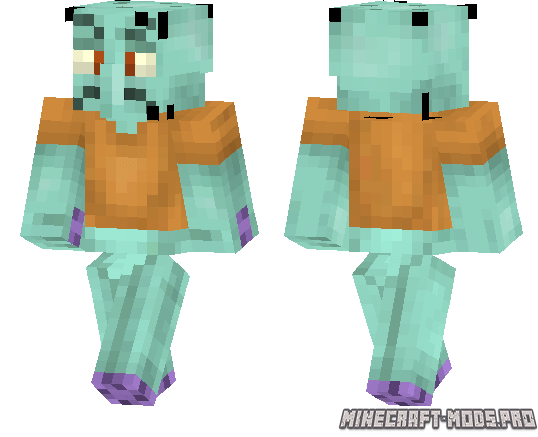Скин Squidward Tentacles для Minecraft PE