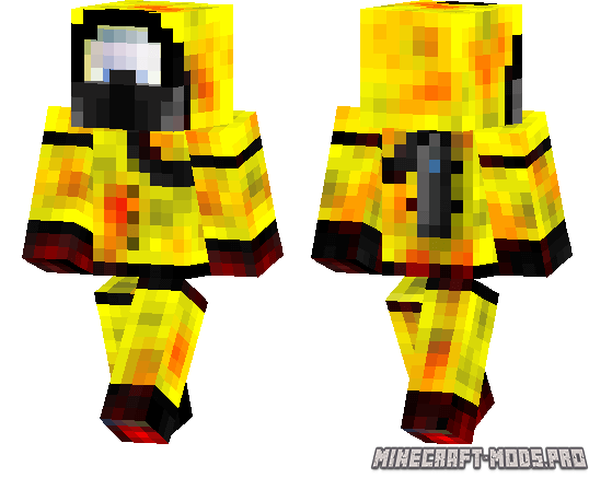 Скин Biohazard Suit для Minecraft PE