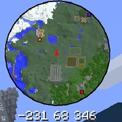 Мод на мини карту для майнкрафт 1. 7. 10, 1. 8 (voxelmap).
