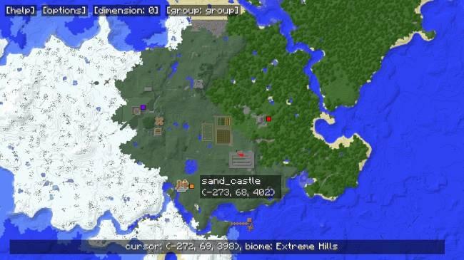 карта мини игры майнкрафт 1 7 2