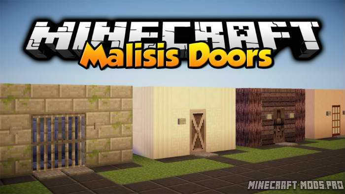 Malisis doors mod download for minecraft 1. 7. 10 1. 8 1. 8. 9.