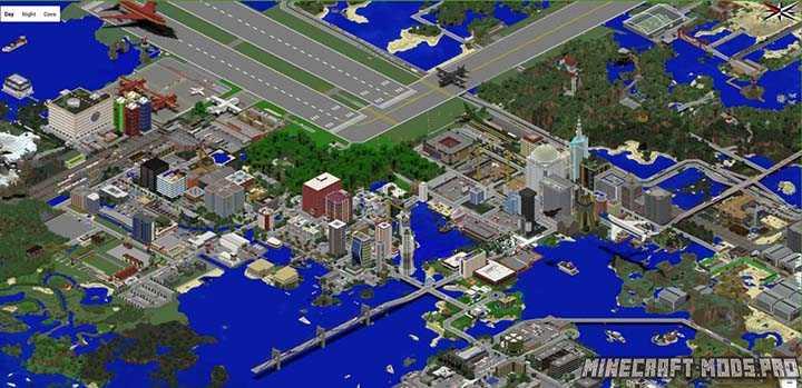 Карта modern city для minecraft 1. 12. 2, 1. 11. 2, 1. 8. 9, 1. 7. 10.