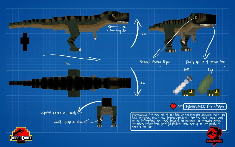 Скачать мод на майнкрафт мод на динозавров