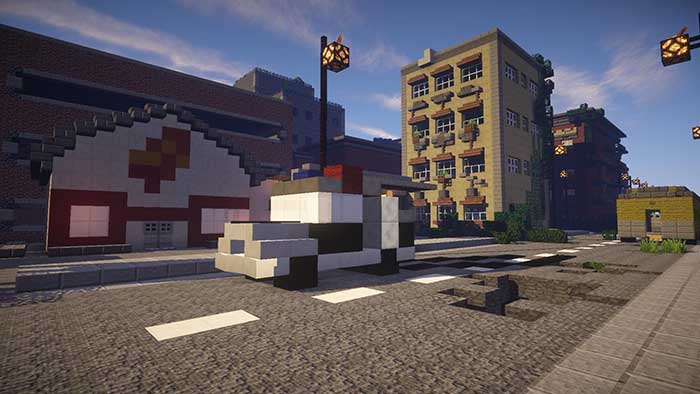 скачать карту для майнкрафт заброшенный город #9