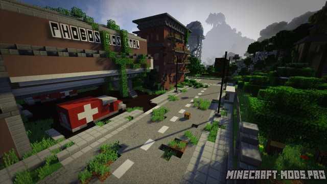 Скачать карту для майнкрафт заброшенный город