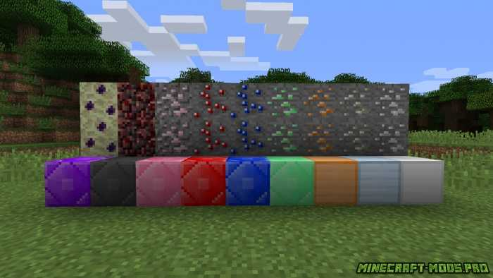 Мод на руды (m-ore) для майнкрафт 1. 7. 10/1. 7. 2/1. 6. 4.